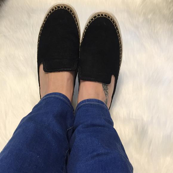 6619d3af742 Ugg 7 Black Suede Caleel Slip On Sneaker Slides